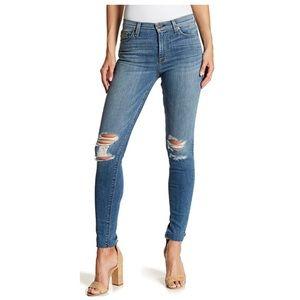 Hudson Blair High-Rise Super Skinny Jeans Raw Hem